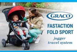 Graco FastAction Fold Ocean Grey wózek spacerowy turkusowy + 2 tacki